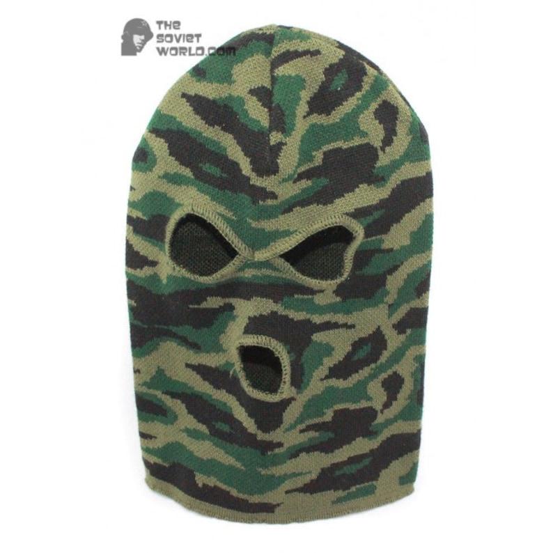 f420f2d9e4c Russian Spetsnaz knitted woolen camo winter mask airsoft