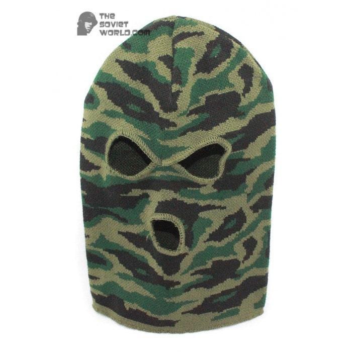 a0f176dd2 Russian Spetsnaz knitted woolen camo winter mask airsoft
