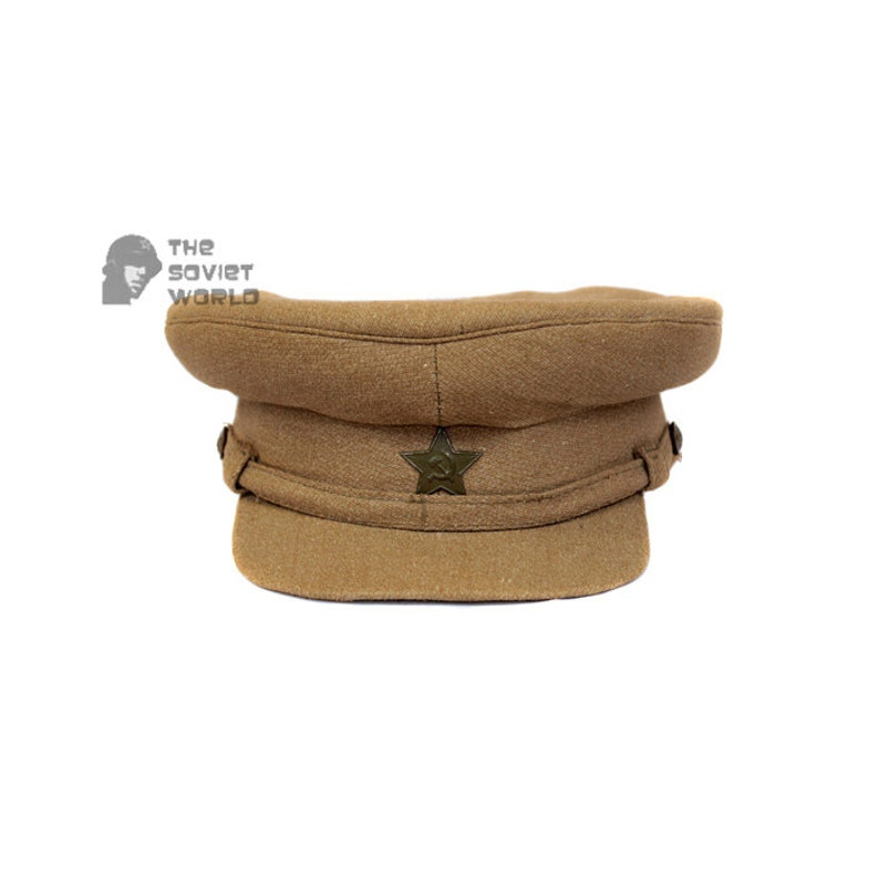 72d07a72003 Soviet russian RKKA Officer s khaki Visor field Cap Red