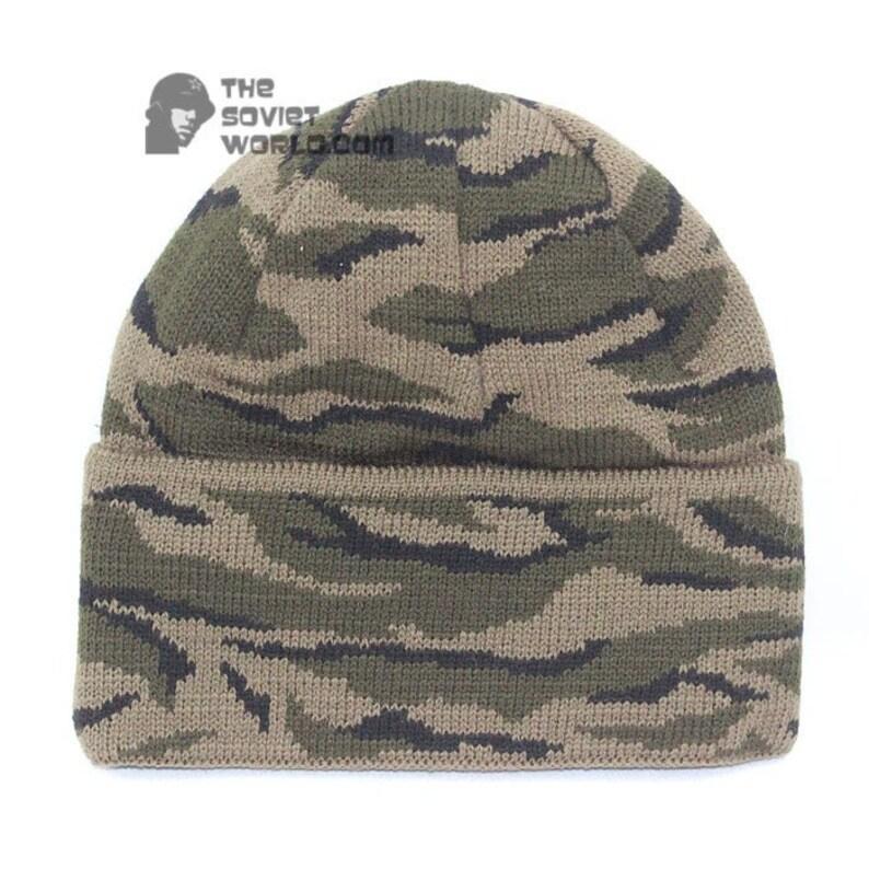c2f8dfffd Russian Spetsnaz knitted woolen camo winter airsoft hat