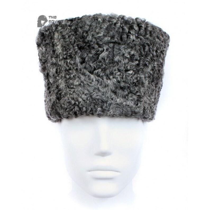 29ea0dd0a92dd Vintage Soviet Military Astrakhan fur warm winter USSR Army