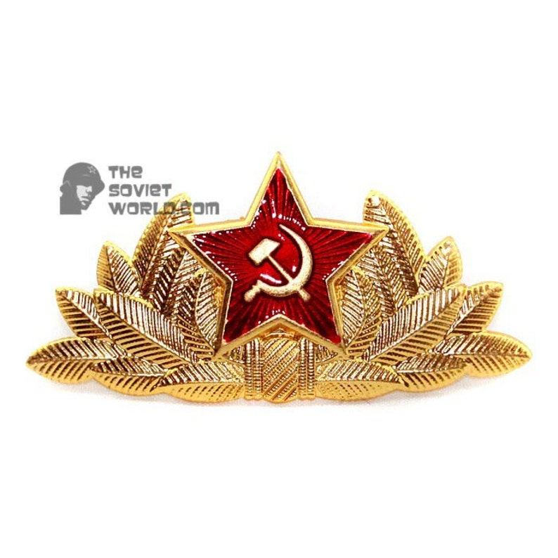 e4af291d608 Soviet Red Army Russian military General s hat badge
