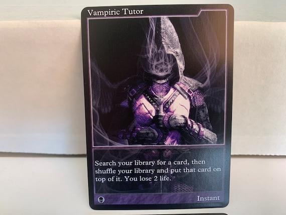 Vampiric Tutor GENERIC Commander Borderless Textless full art MTG V1
