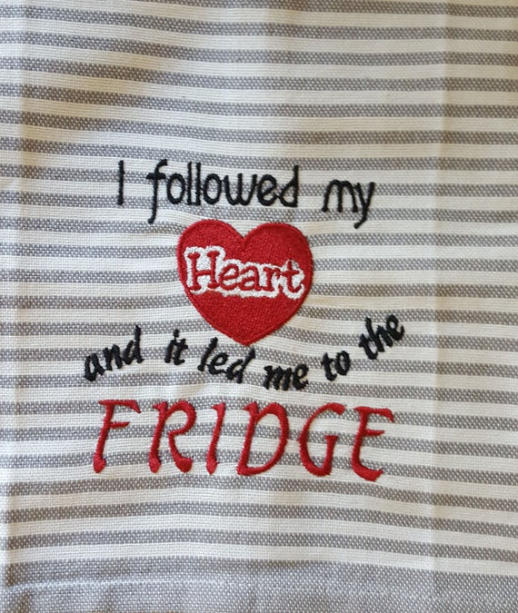 Love Embroidery Design Valentines Day Kitchen Towels Etsy