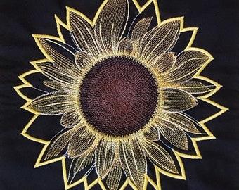 Sunflower no3 Applique Embroidery design / Machine Embroidery