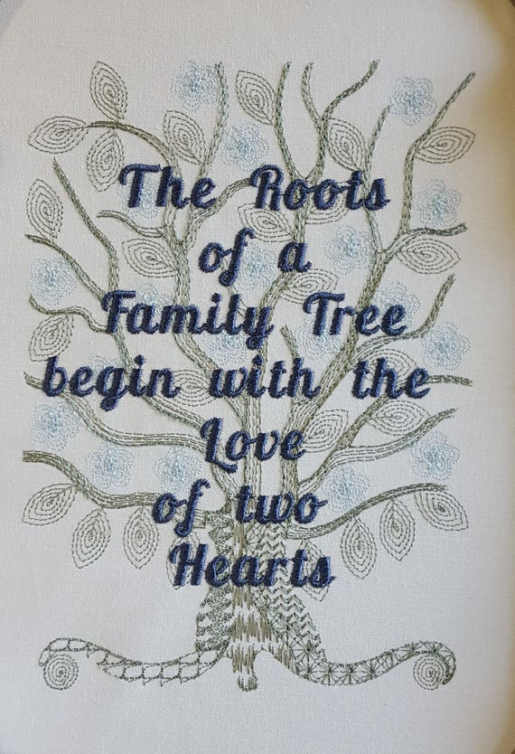 Family Tree Quotes Embroidery Design Family Sayings Etsy
