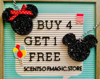 Buy 4 Get 1 Free | Mickey Minnie | Disney Inspired | Park Scented | Aroma Bead | Car Freshie | Air Freshener | Disney Gift | Free Shipping!