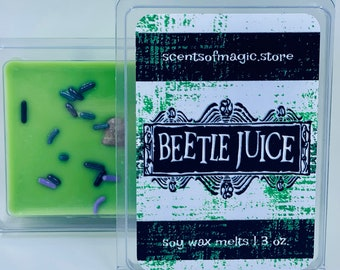 Beetlejuice Inspired | Caramel Apple | Scented Soy Wax Melts | 90's Retro Movie Candles | 90's Retro Movie Wax Melts | Free Shipping | 3oz.