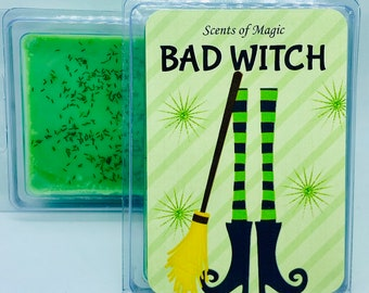 Bad Witch | Wicked Witch | Absinthe Scented | Soy Wax Melts | Book & Movie Themed Candle | Movie Lover Gift | Free Shipping | 3oz.