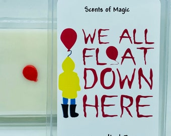 We All Float | Vampire Blood Type | Scented Soy Wax Melts | Scary Horror Movie Candles | Scary Horror Movie Wax Melts | Free Shipping | 3oz.