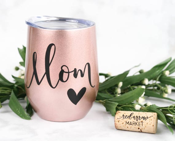 Mom Wine Tumbler - SWIG Stainless Steel Tumbler w/ Lid - Gifts under 30, Christmas Presents for Mom Birthday Gift - INCLUDES Gift Bag & Tag