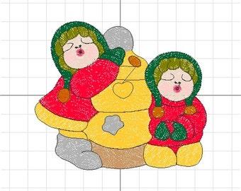 machine embroidery Christmas imitation thun