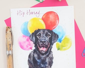 Black Labrador Birthday Card - Personalised Lab Card for Him and Her -Love Dog Birthday Card - Labrador Card - Love Lab Card-Card for Him-
