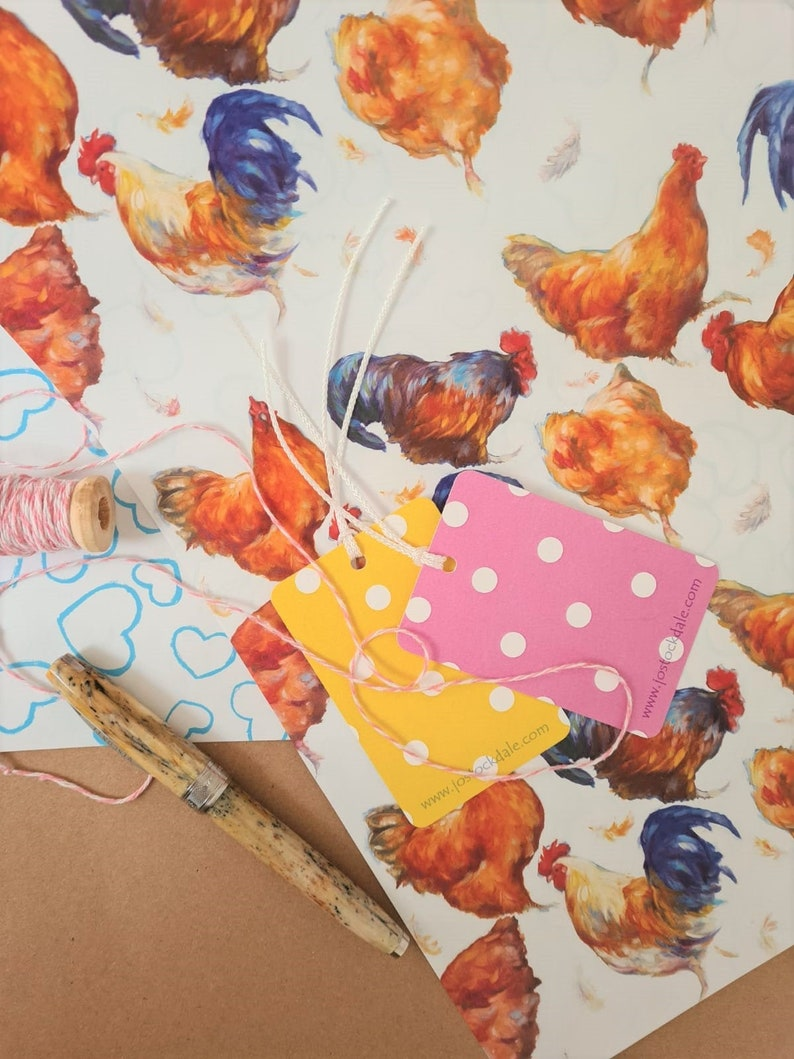 Chicken Wrapping Paper  Chicken Gift  Farm yard Wrapping image 0