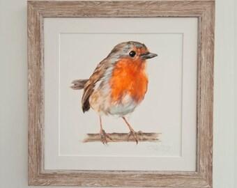 Robin Print- Garden Bird Print- Easter Gift for Him & Her- Mothers Day Gift