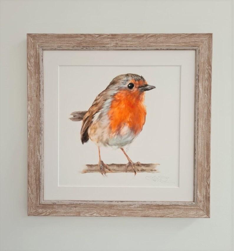 Robin Print Garden Bird Print Easter Gift for Him & Her image 0