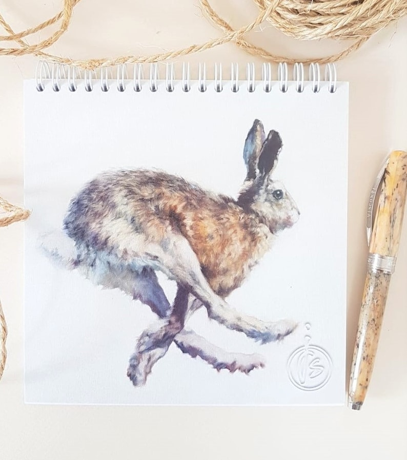 Hare Notepad-Hare Easter Gift for Her & Him  Mother's Day image 0