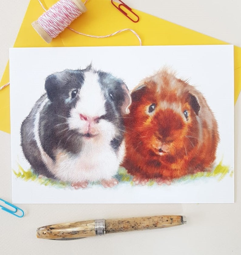 Guinea Pig Greeting Card Personalised Guinea Pig Birthday image 0