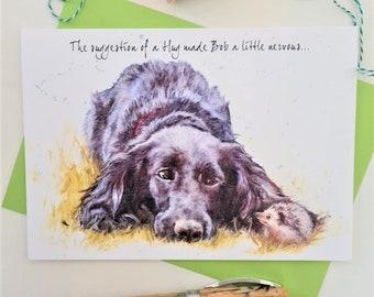 Spaniel Greeting Card- Personalised Cocker Spaniel Birthday Card - Spaniel Anniversary Card - Spaniel Card for Her- Spaniel Card for Him