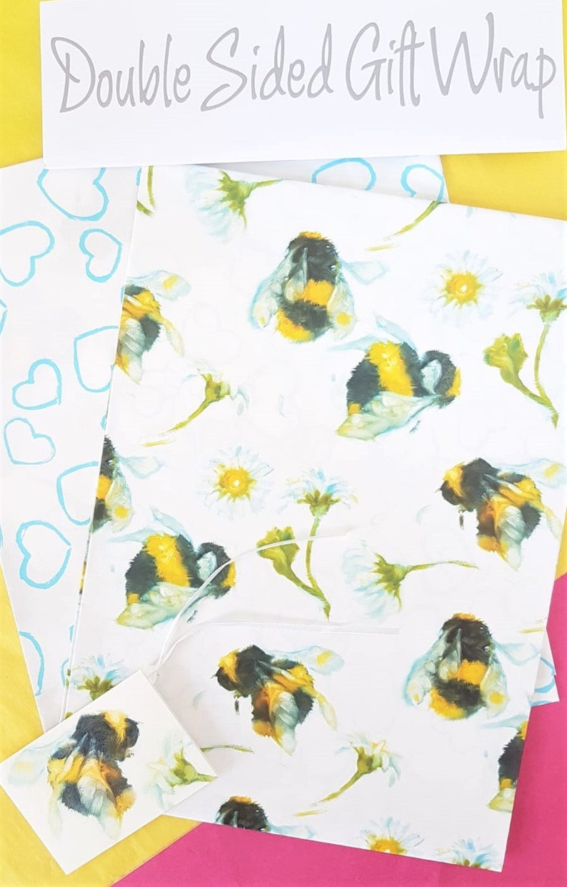Bee Wrapping Paper  Easter Gift Wrap  Garden Wrapping Paper image 0