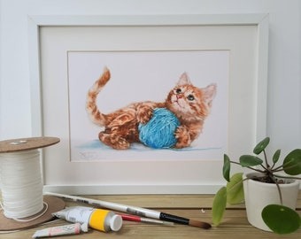 Cat Print- Ginger Cat Gift for her-  Animal Print