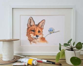 Wildlife Print-Fox Print For Her or Him- Anniversary Gift -Bird Print- Nature Lovers Gift- Country Life Gift