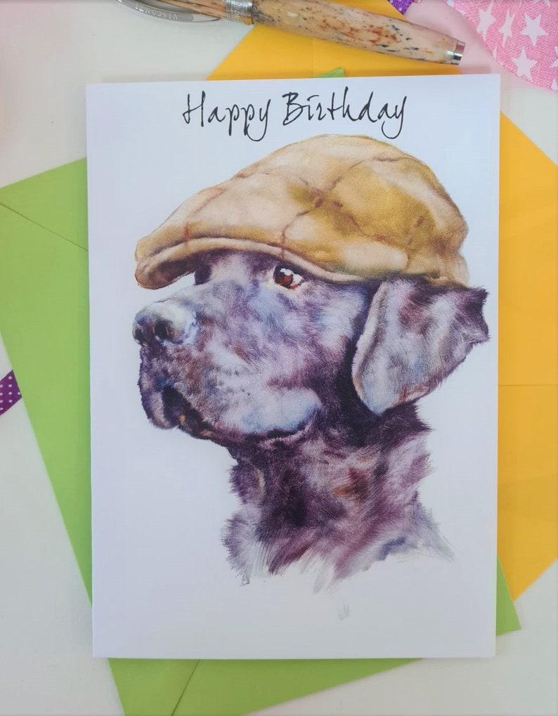 Labrador Birthday Card  Personalised Country Lab Birthday image 0