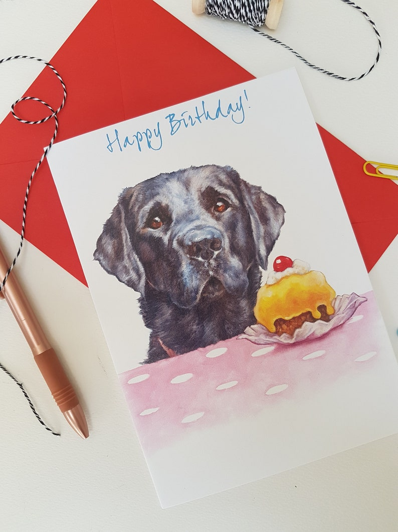 Labrador Birthday Card for Him & Her  Personalised Dog image 0