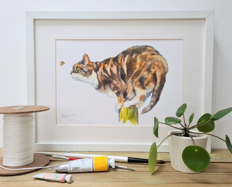 Cat Print Cat Gift Animal Gift Easter Gift f Anniversary image 0
