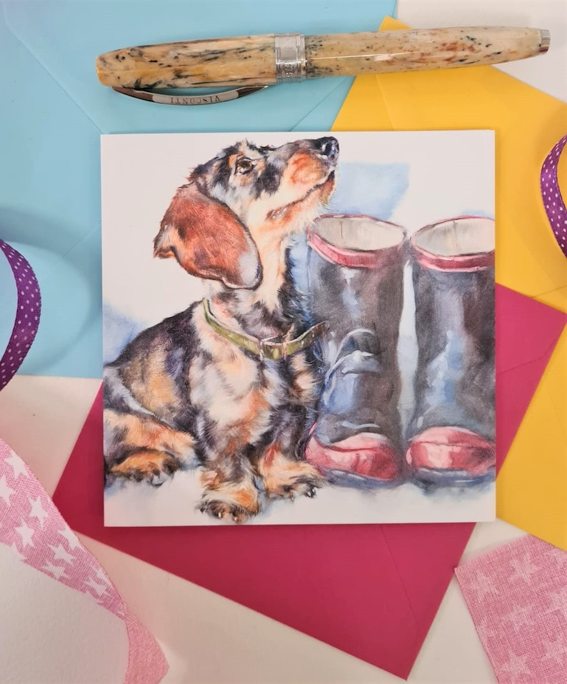 Dacshsund Greetings Card Dachshund Birthday Card Dachshund image 0