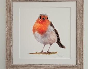 Garden Bird Print- Robin Print- Garden Bird Gift Gift- Easter Gift for Him & Her