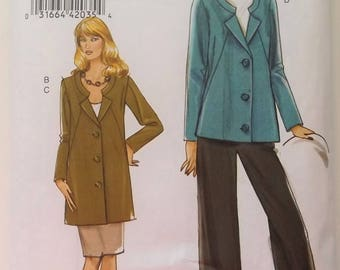 Vogue Pattern # 8464. Very Easy Vogue, Jacket, pants, skirt.  Jacket in two length  sizes 8 through 16