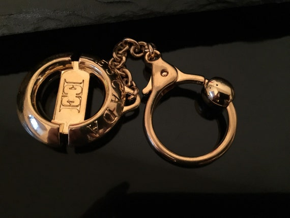Authentic Escada keyring , Gold Plated, Vintage Es