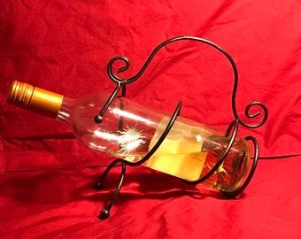 Wrought Iron Bottle Holder Etsy