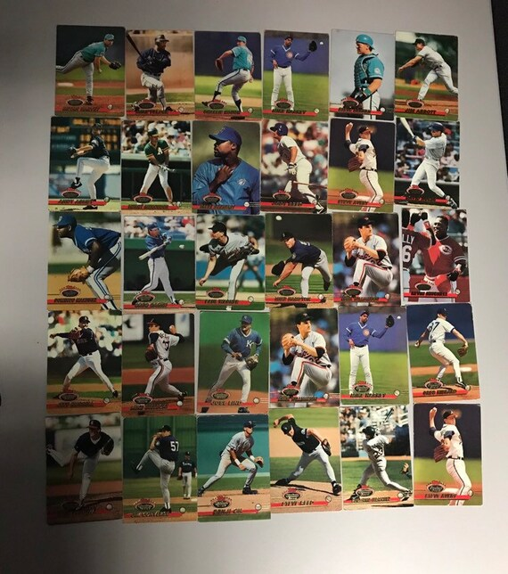 Lot Of 65 1993 Topps Stadium Club Baseball Trading Cards