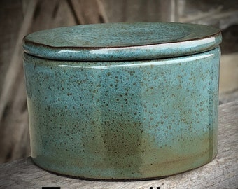 French Butter Dish, butter crock, butter keeper handmade pottery made to order