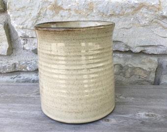 Utensil Holder, Utensil Pottery Crock, Wine Chiller