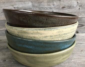 Set of FOUR mixed Pasta Bowls, Buddha Bowls, Power Bowls handmade pottery bowls made to order