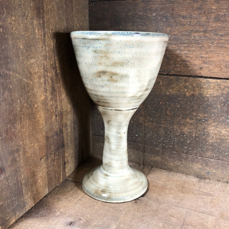 Handmade Pottery Chalice wine chalice Made to Order Birch
