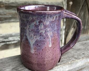 pottery mug purple