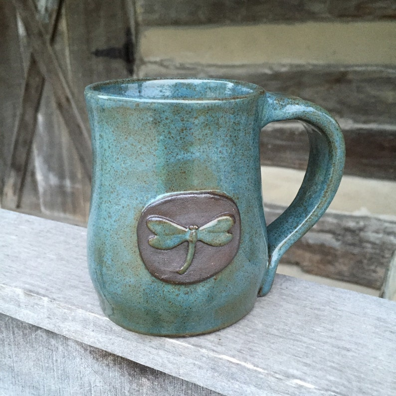 Dragonfly Pottery Handcrafted Mug image 0