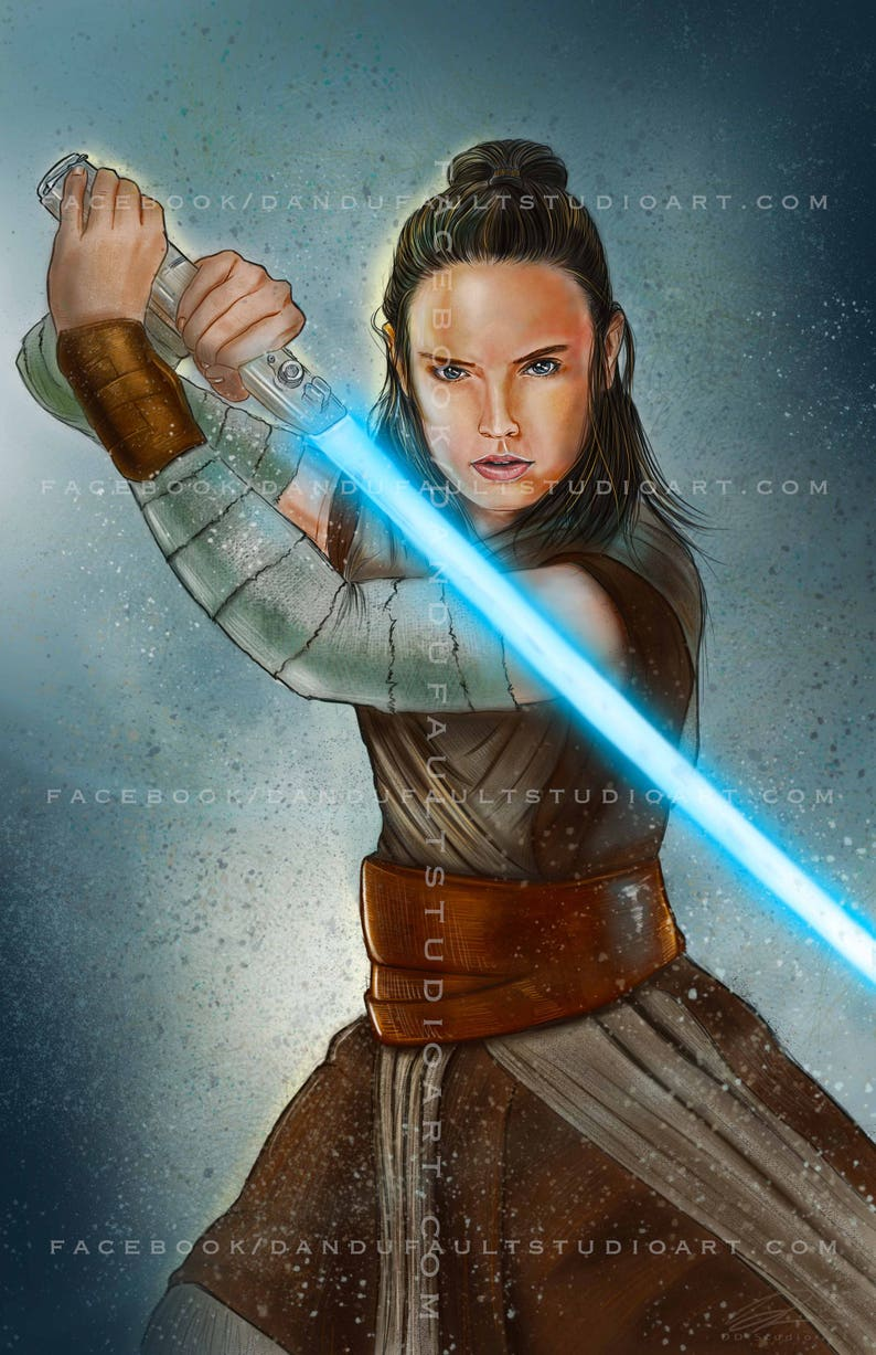 Rey  'Star Wars: The Last Jedi' 11x17 Artist image 0