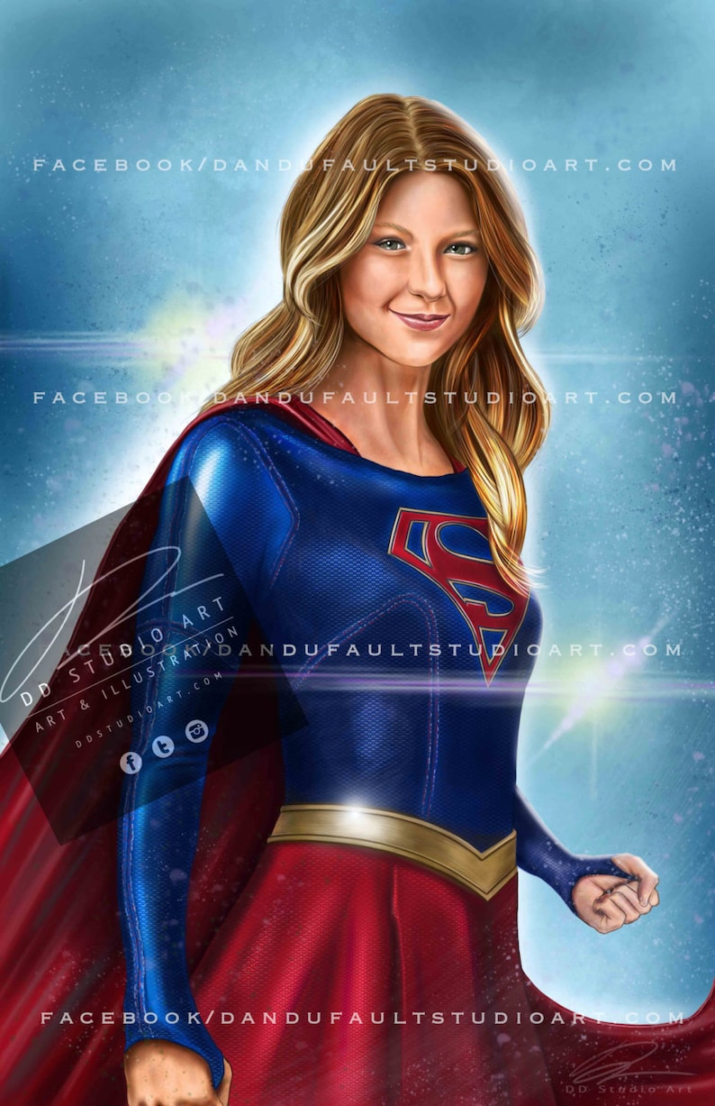 DC and CW's 'Supergirl' 11x17 Artist Signed image 0