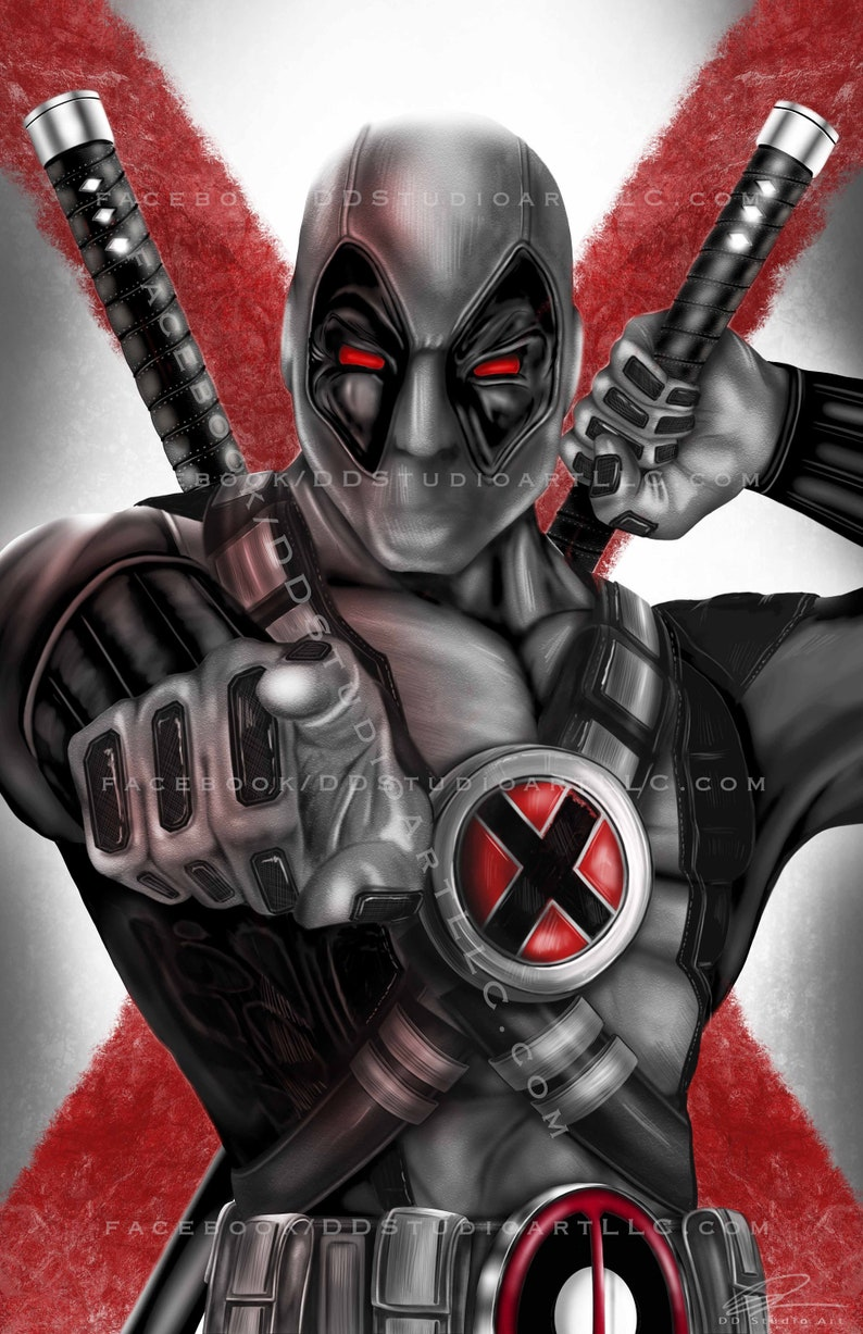 Deadpool X-FORCE Variant  11x17 Artist Signed Print image 0
