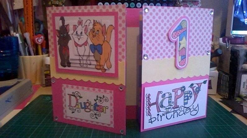 Disney Aristocats Birthday Card Large Birthday Card Aristocats Birthday Card Ladies Birthday Cute girls birthday card Cats Birthday