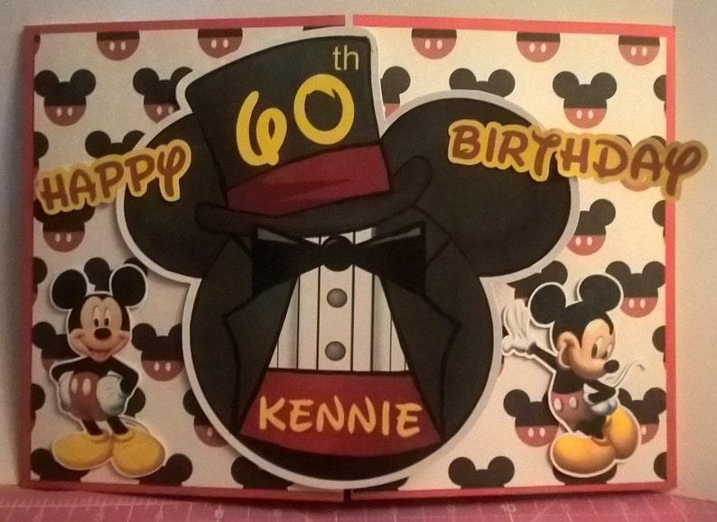 Betere Mickey Mouse kaart Mickey verjaardagskaart hoge hoed Tux | Etsy KY-26