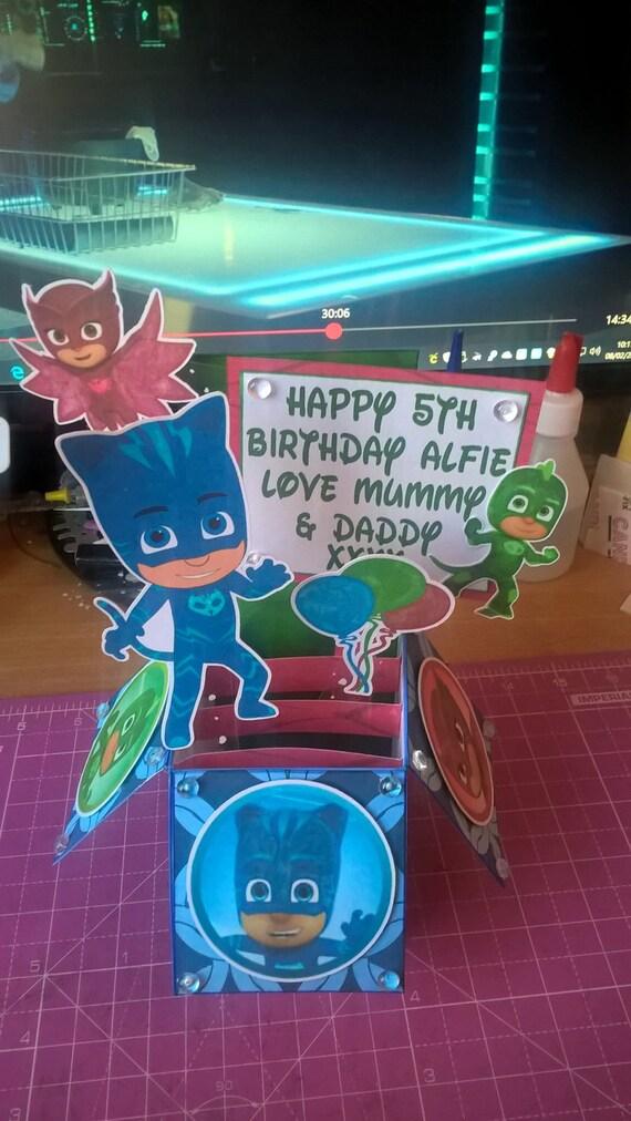 PJ Masks Pop Up Card Birthday 3D Super