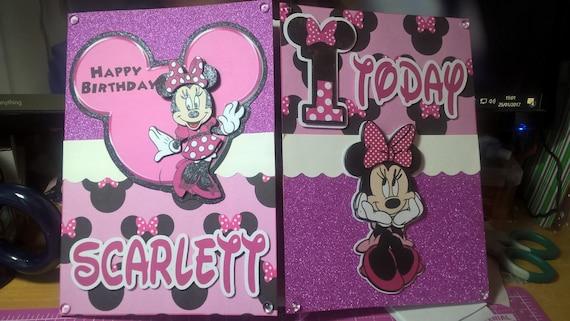 Gute Fragen An Madchen >> Minnie Mouse Mädchen Geburtstagskarte Disneys Minnie Mouse | Etsy