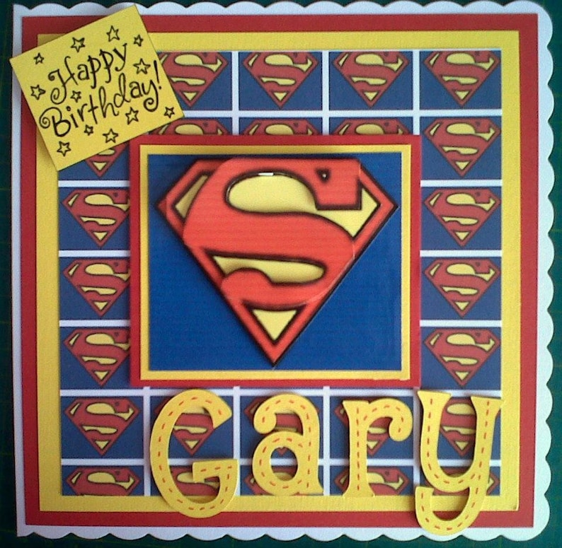 Superman Birthday Card Super Hero DC Comics