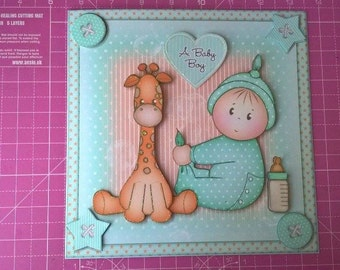 New Baby Boy Card, New Baby Card, Baby Shower, New Parents, New Grandparents, Welcome Baby, Baby Girl, Welcome Baby, Christening Day